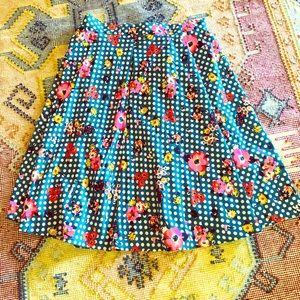 A-line Floral Swing Skirt~Size Large